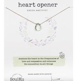 Prasiolite/Green Amethyst Necklace For Heart Opener - SoulKu