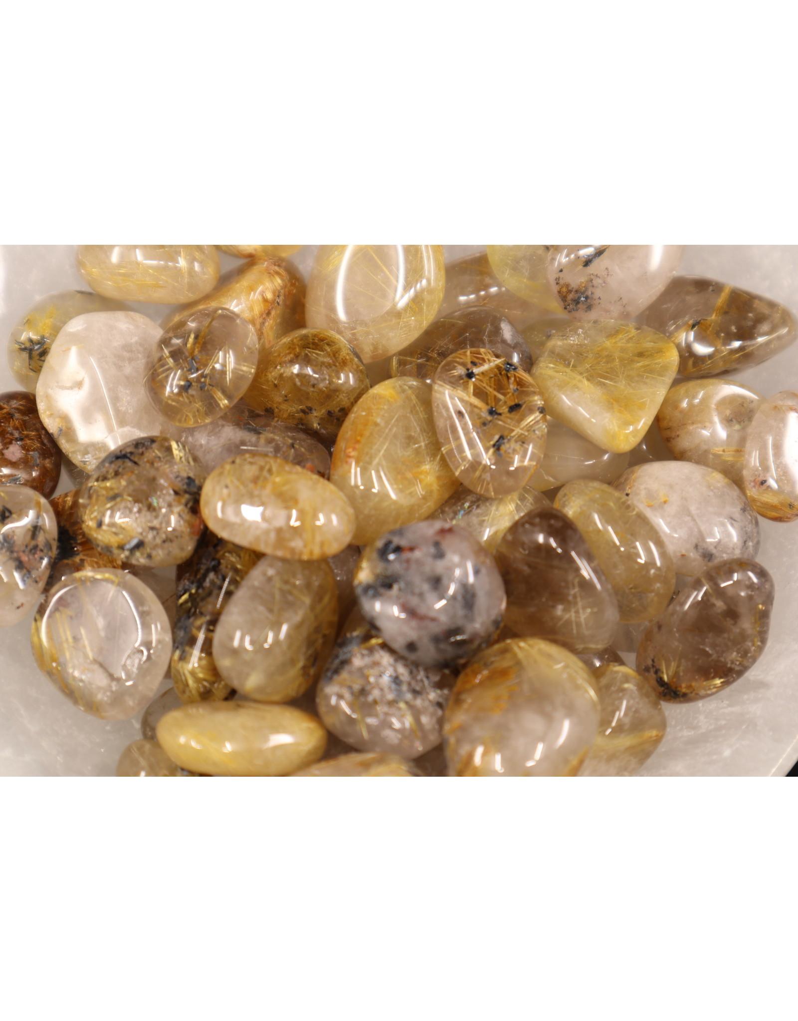AA Gold Rutilated Quartz - Tumbled