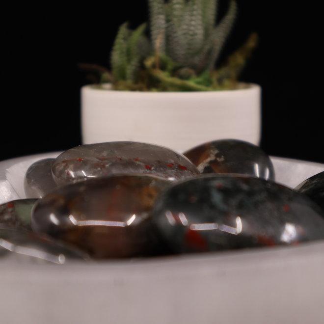 Bloodstone/Heliotrope Palm/Pillow/Pocket Stone