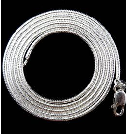 Sterling Silver Snake Chain - 18""