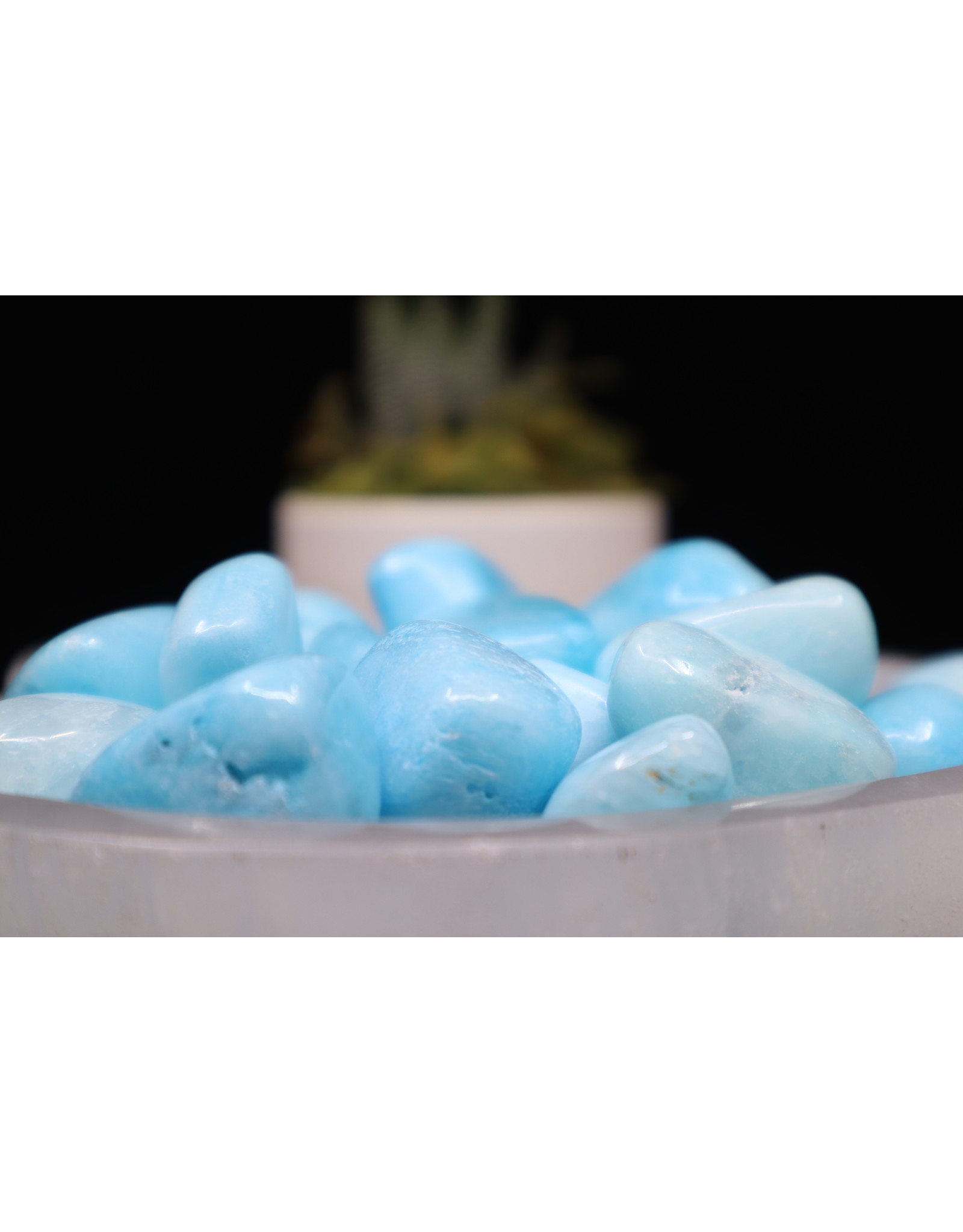Blue Aragonite - Tumbled