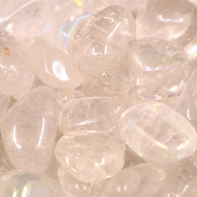 Angel (White) Aura Clear Quartz - Tumbled