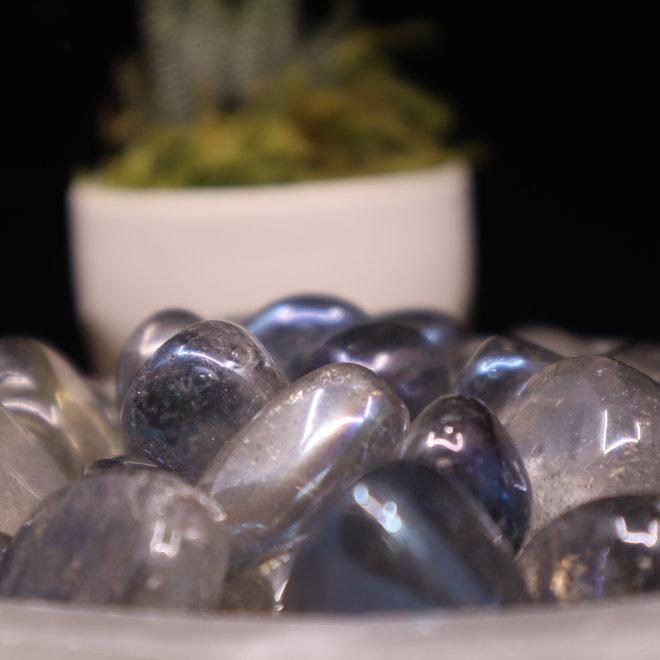 Blue/Aqua Aura Quartz - Tumbled