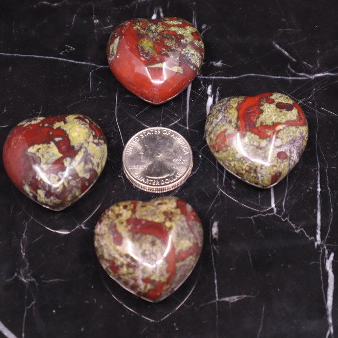 Dragon Bloodstone Jasper / Dragon Stone Medium Heart