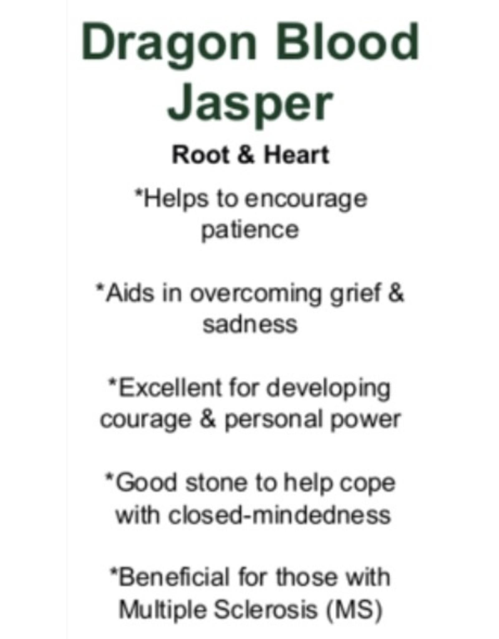 Dragons Blood Jasper Heart