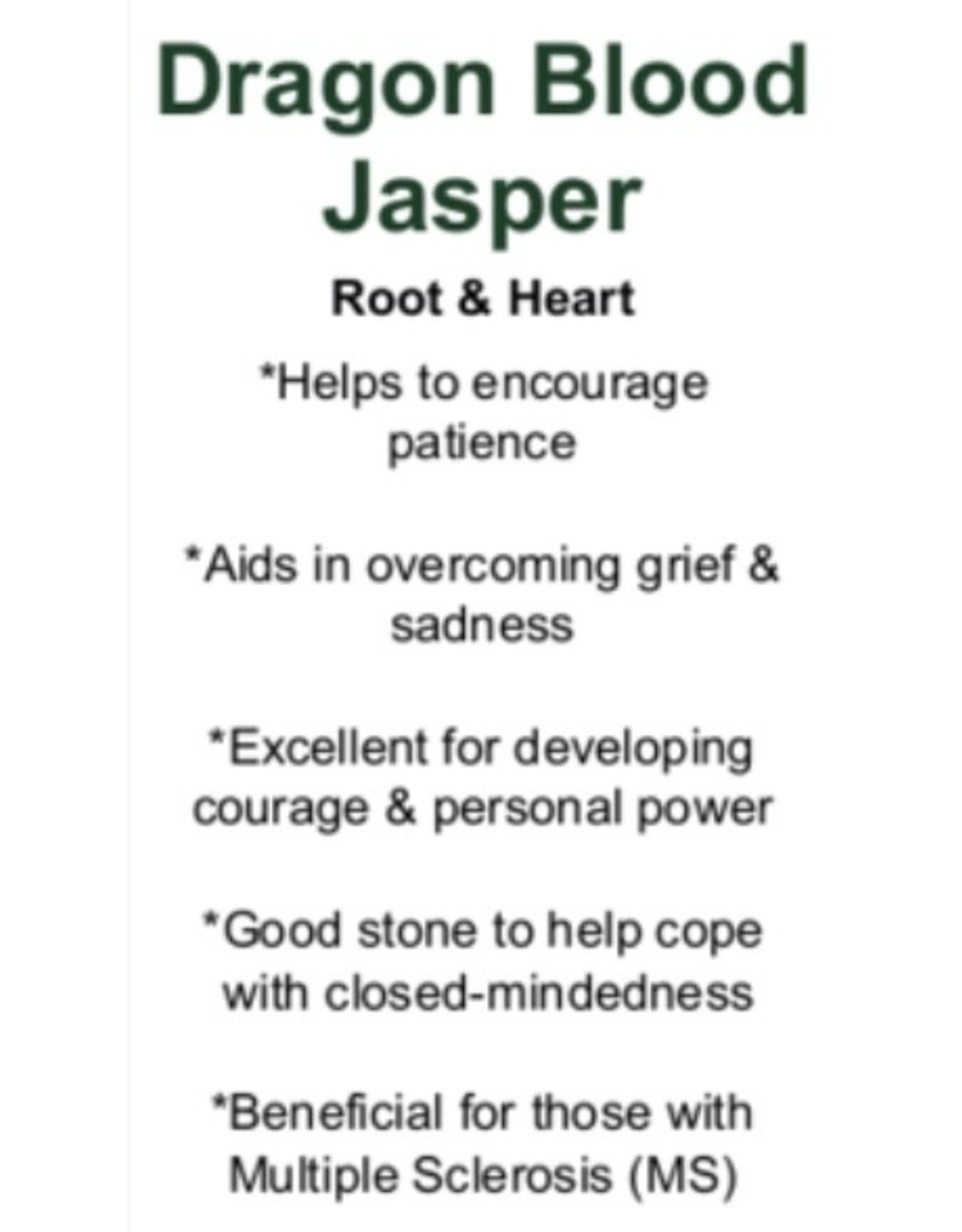 Dragonsblood Jasper Heart
