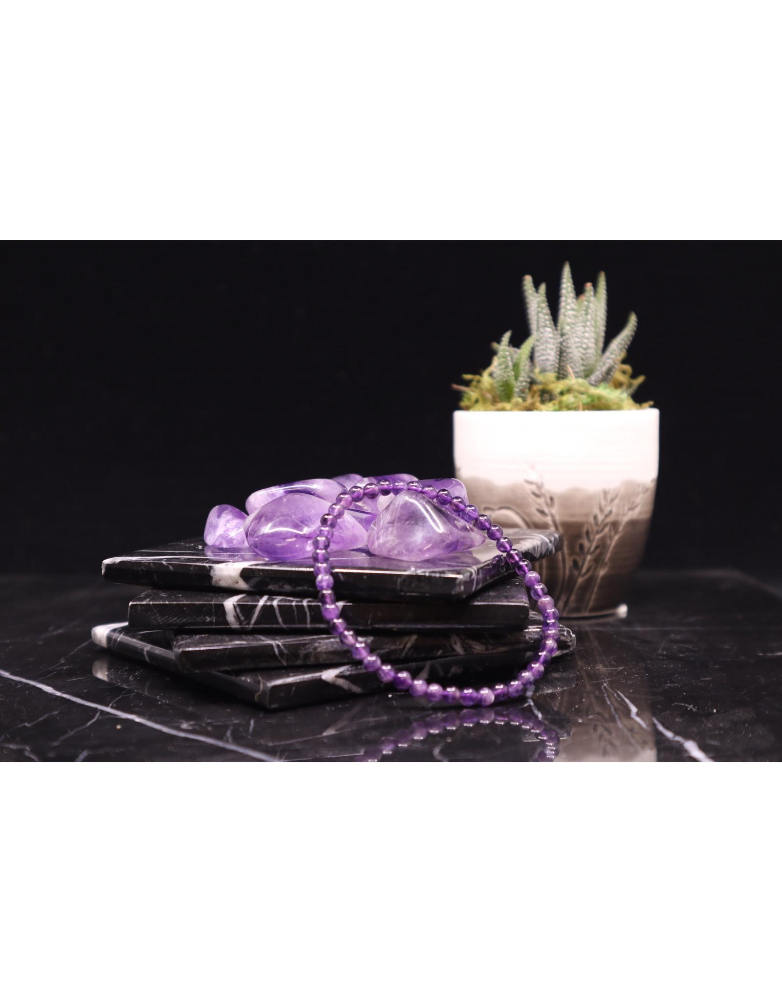 Amethyst Bracelet - 4mm