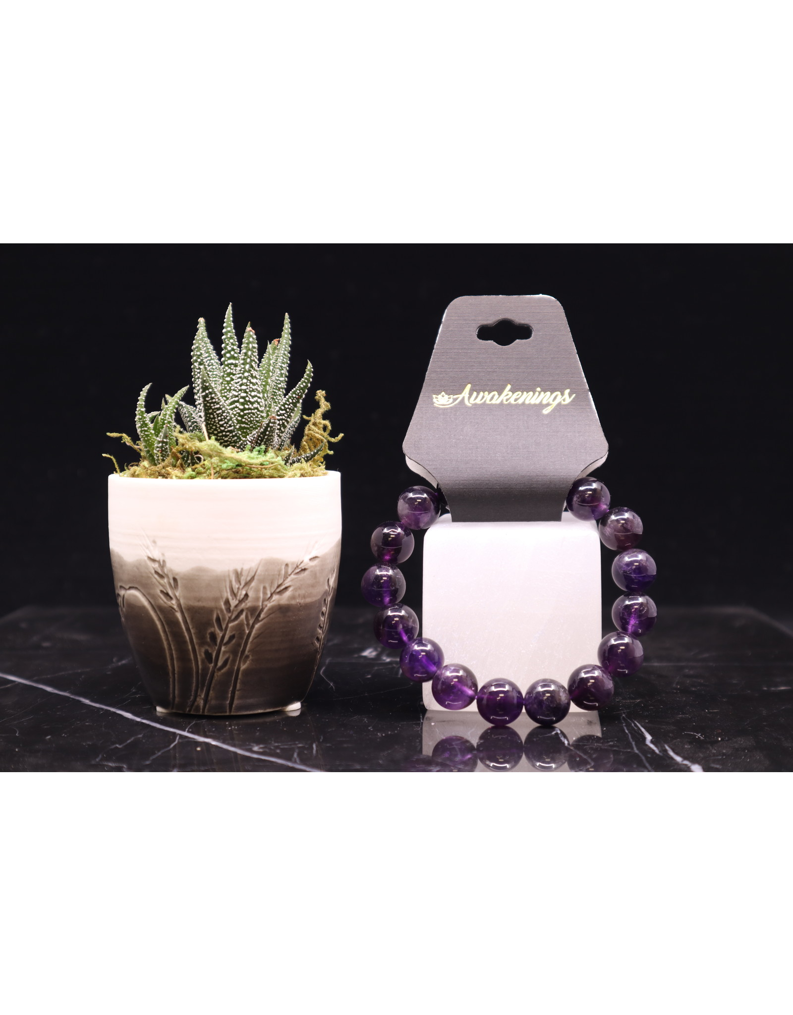 Amethyst Bracelet-12mm