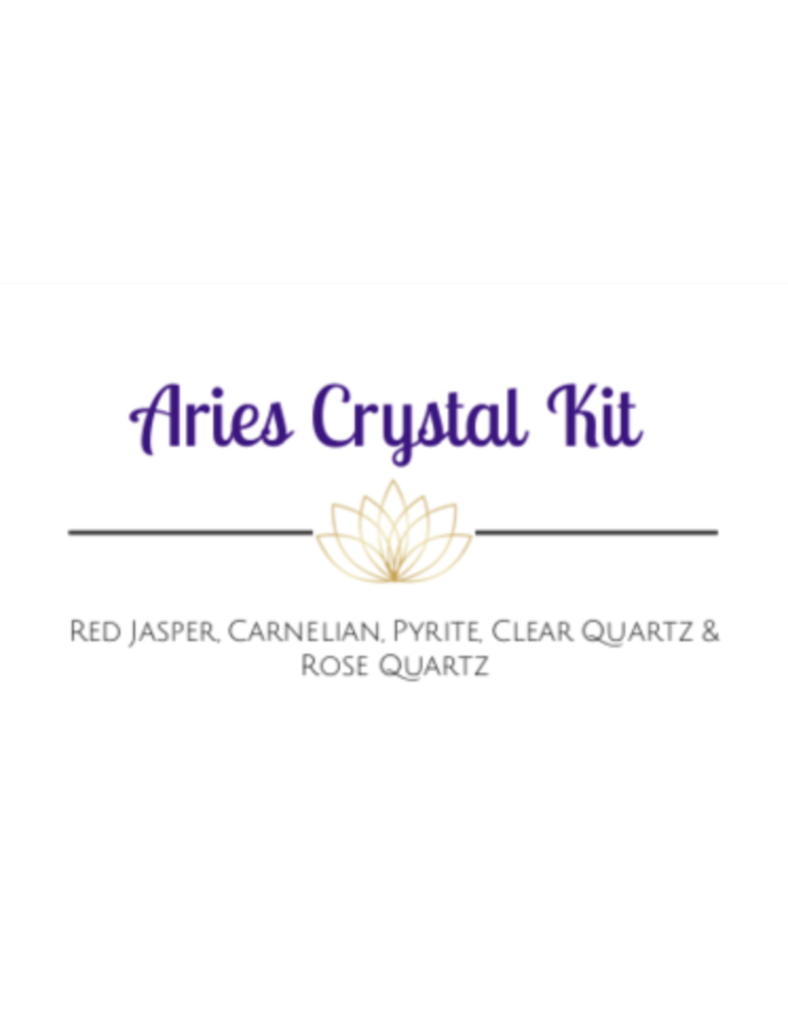 Aries Astrological /Zodiac Crystal Kit
