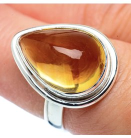 Natural Citrine Ring - Size 7.25