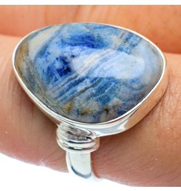 Blue Scheelite Ring - Size 8.75