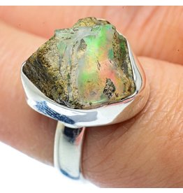 Rough Ethiopian Opal Ring - Size 7