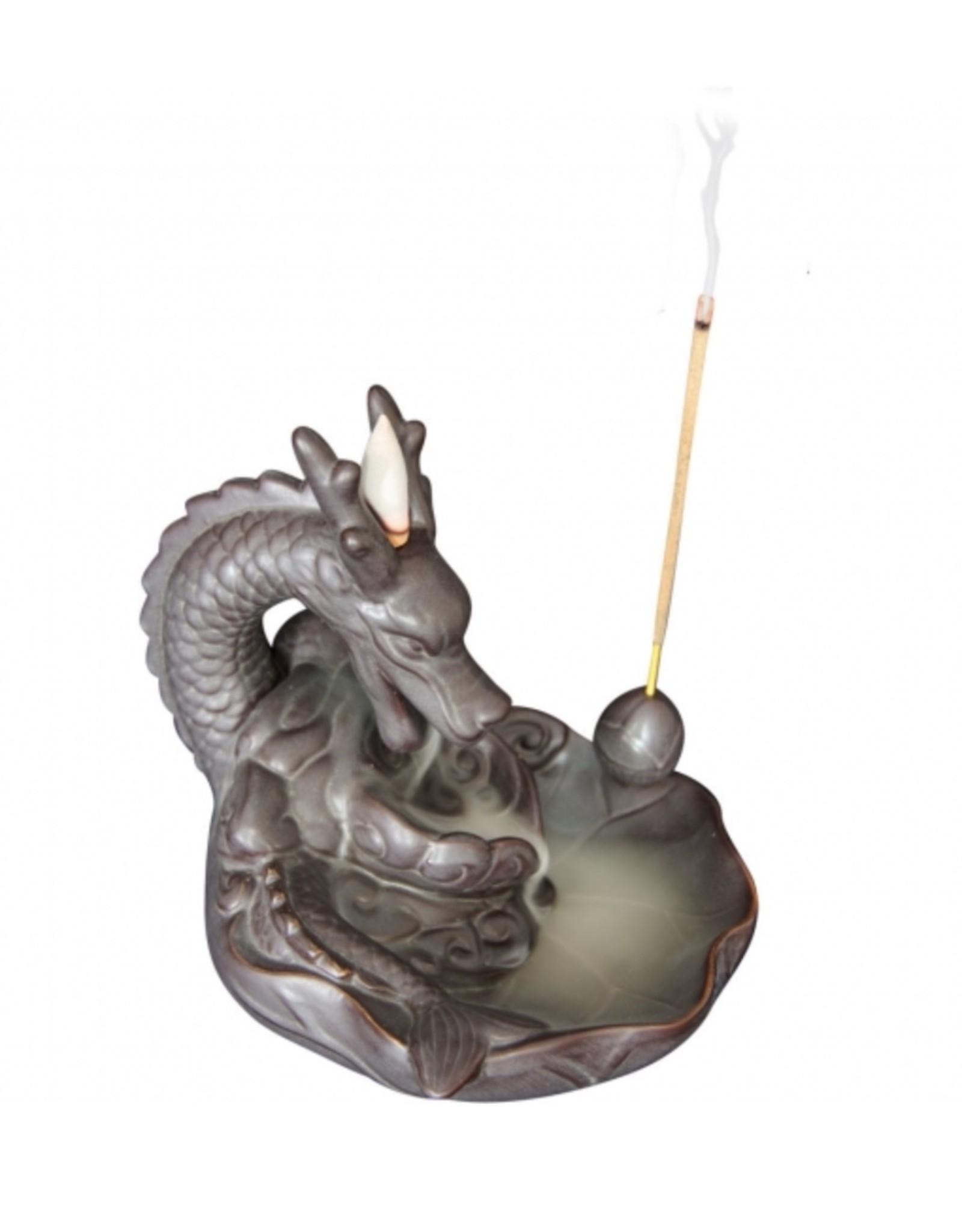 Ceramic Backflow Incense Burner - Dragon