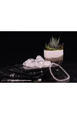 Clear Quartz Crystal Bracelet-4mm
