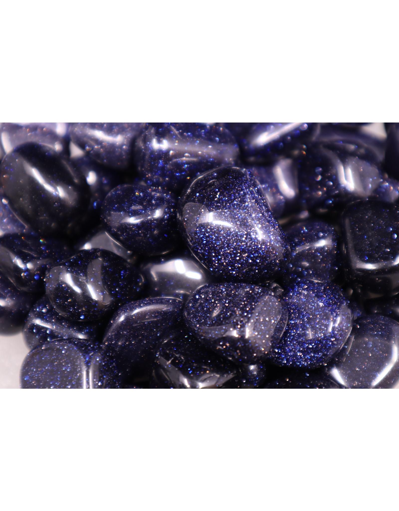 Blue Sandstone/Goldstone - Tumbled