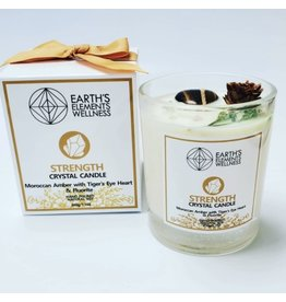 Earth Element's Crystal Candle - Strength