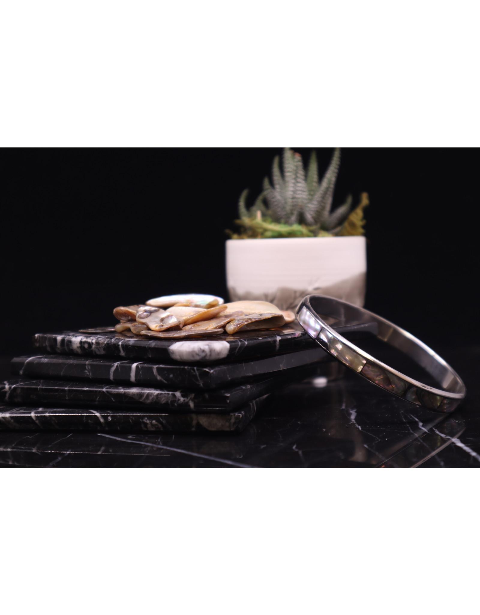 Abalone Shell Inlay Bangle - Small