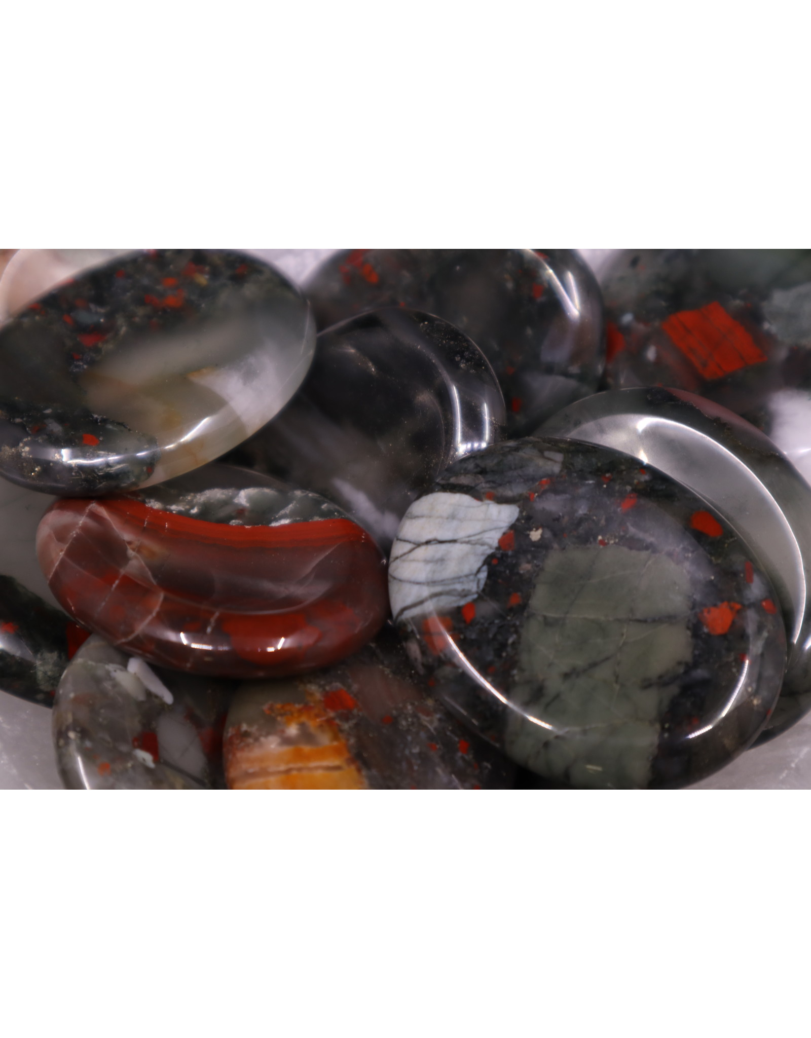 Bloodstone Worry Stone -Large Oval