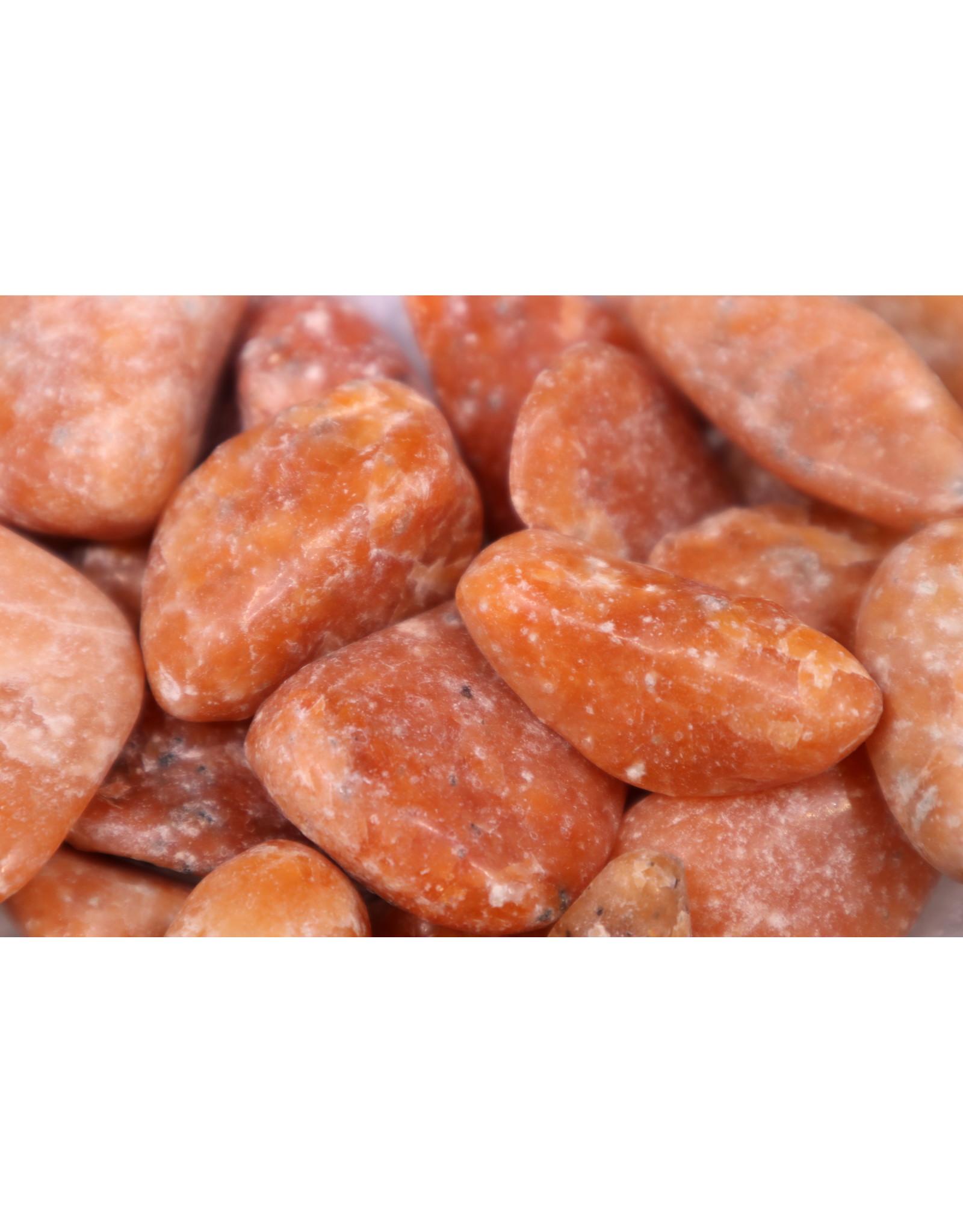 Dark Orange Calcite Tumbled