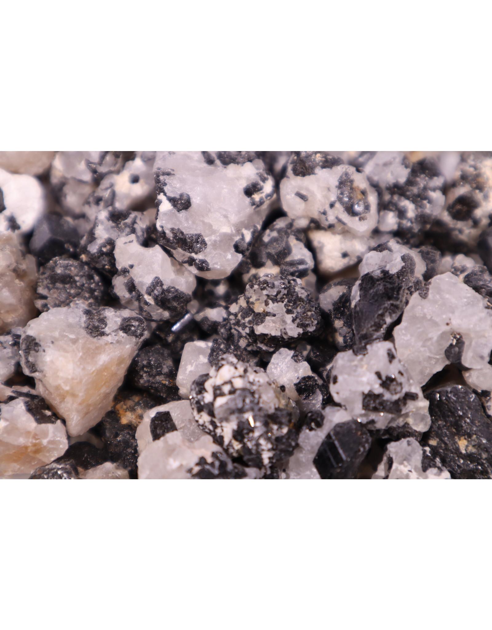 Black Tourmaline  on Quartz - Rough