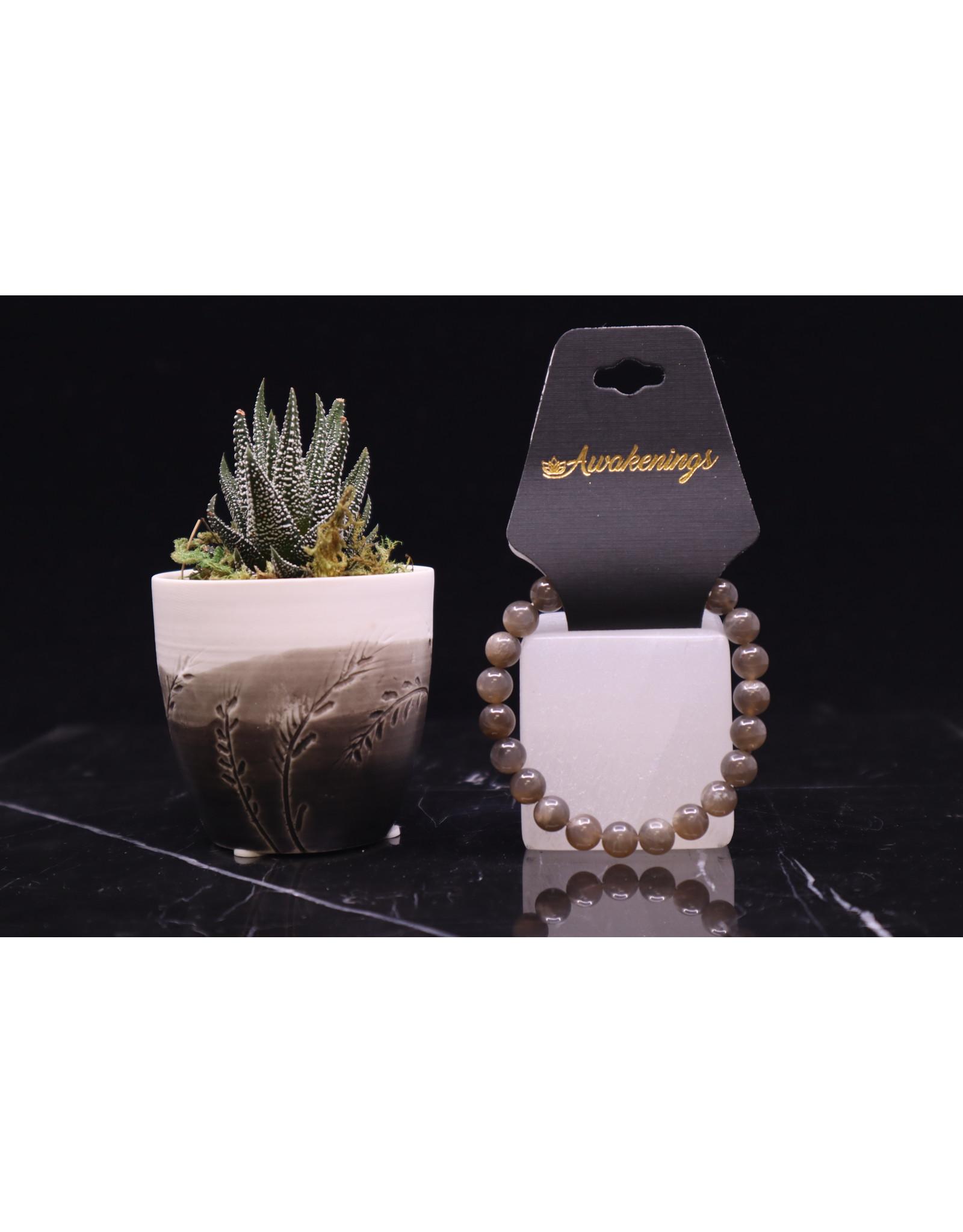 Black Moonstone Bracelet - 8mm
