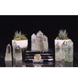 "Prasiolite (Green Amethyst) Tower/Point-Small (2-3"")"
