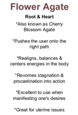 Flower Agate/Cherry Blossom Palm/Pillow Stones
