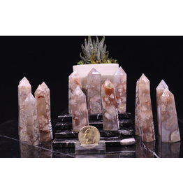 Flower Agate Tower/Point-2-3""