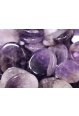 Amethyst Flat Stone - Mini Worry