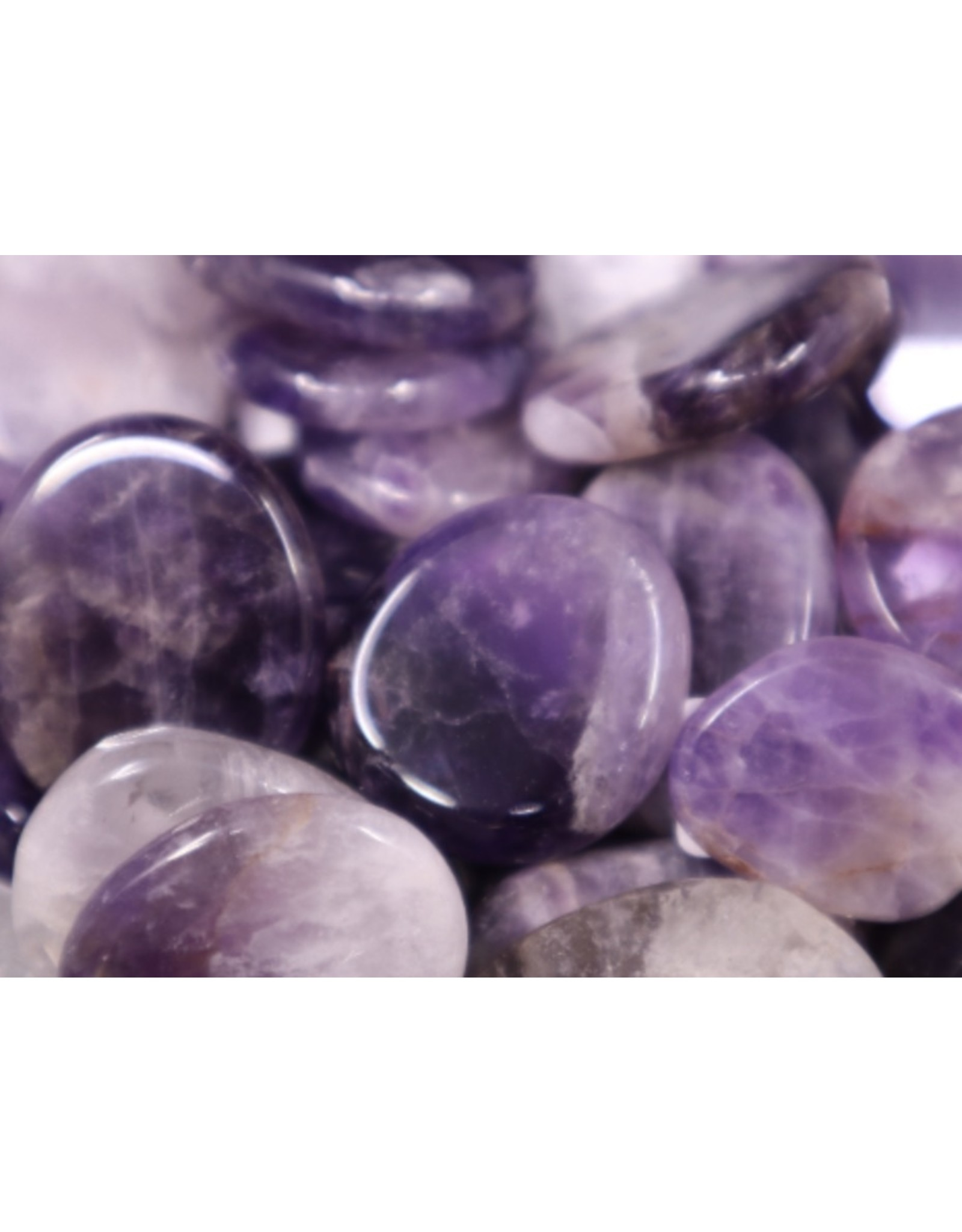 Amethyst Flat Stone - Mini Worry Stone