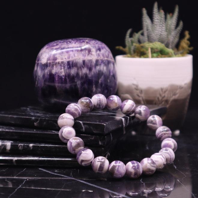 Chevron/Dream Amethyst Bracelet-10mm