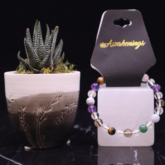 Assorted Multi Gemstone Bracelet  - 8mm