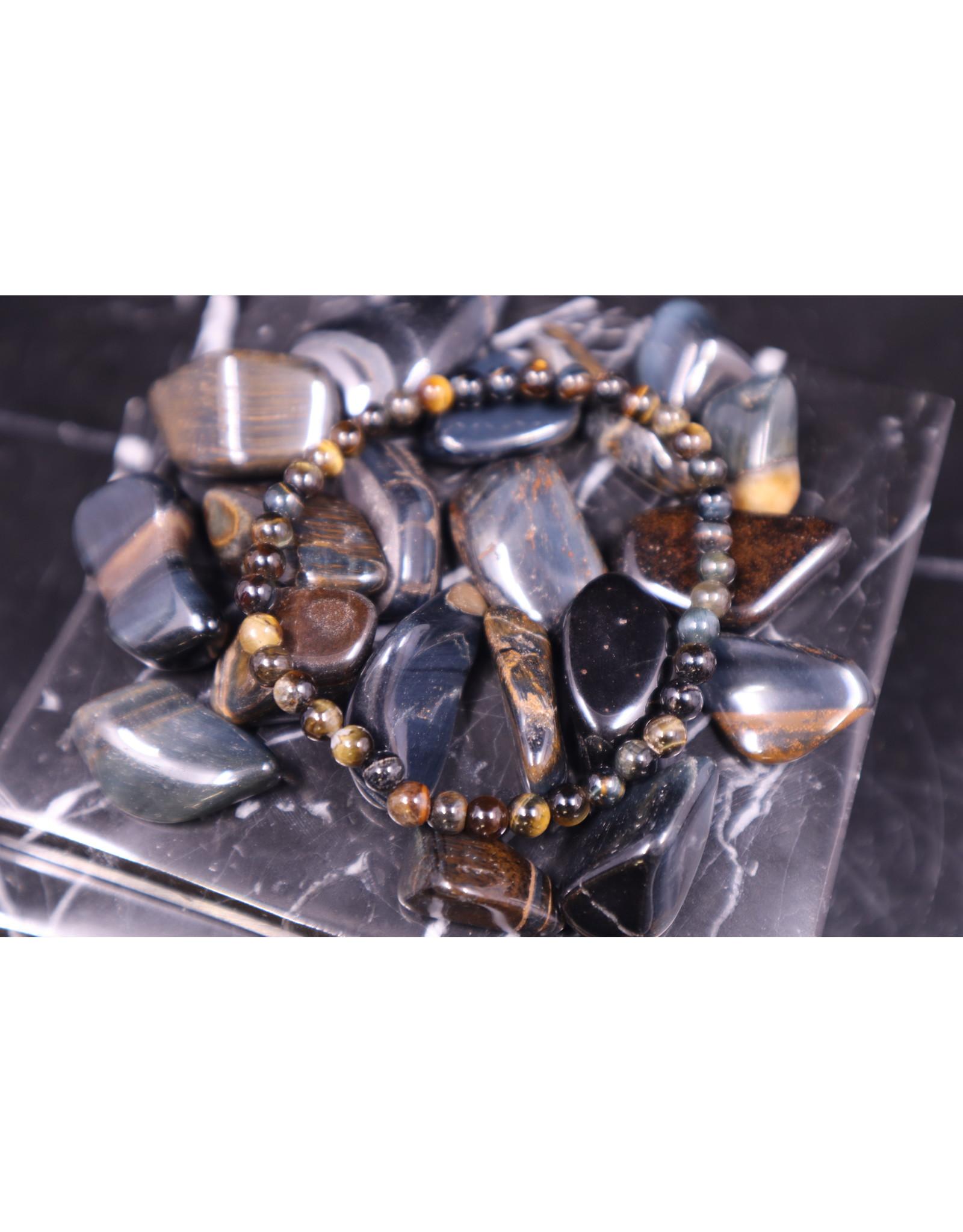 Blue Tigers Eye Bracelet-4mm