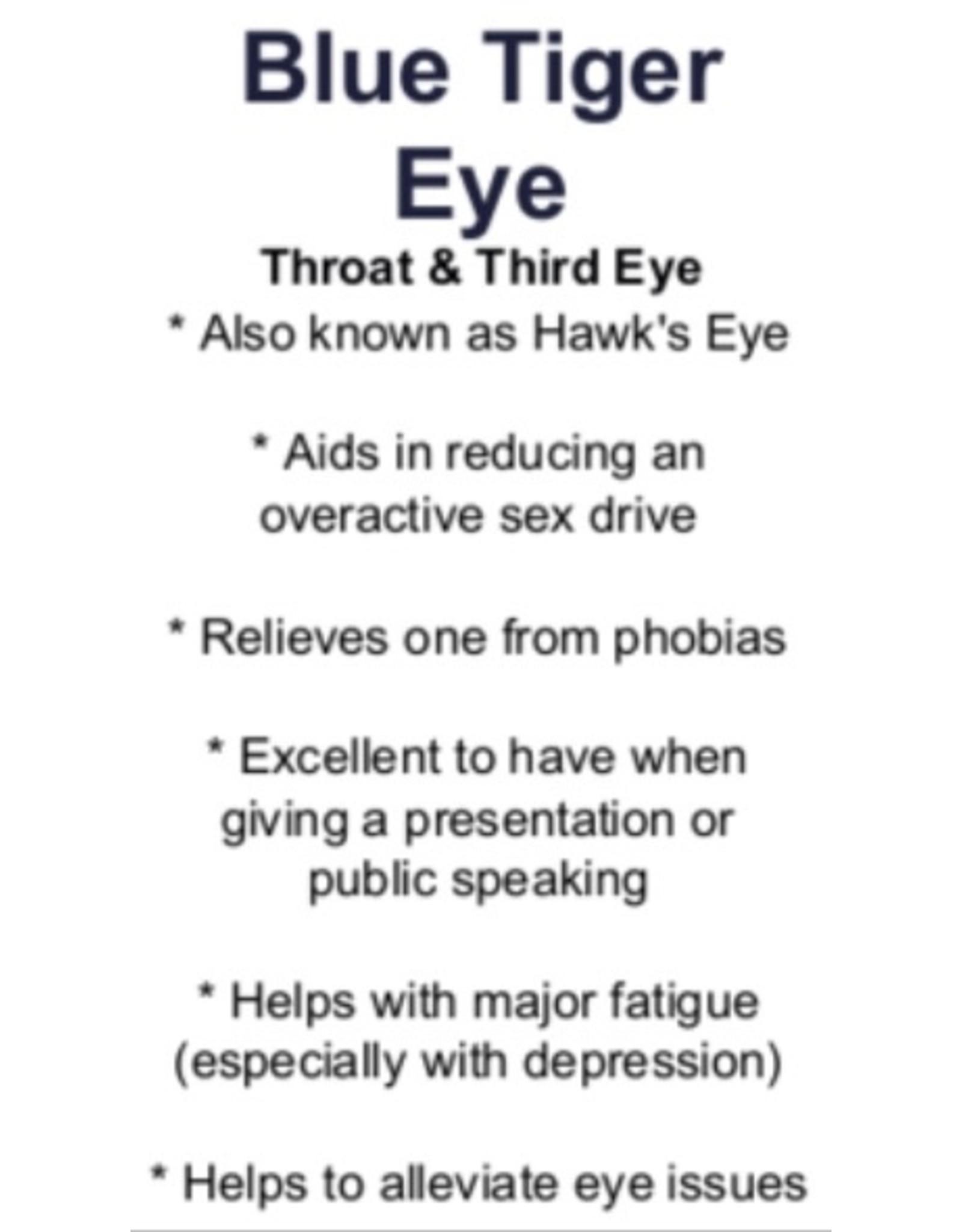 Hawk Eye/Blue Tiger Eye Bracelet - 4mm