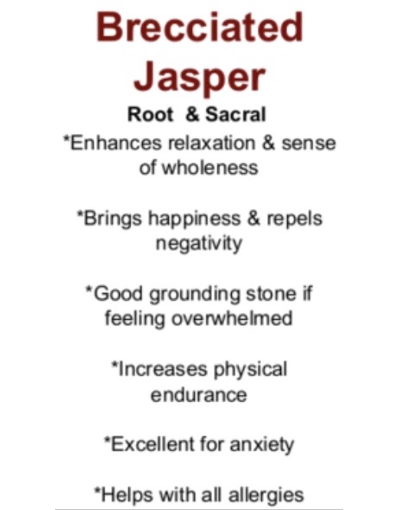 Brecciated Red Jasper Bracelet-4mm