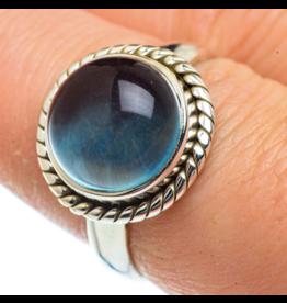 Blue Fluorite Ring - Size 8