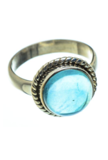Blue Fluorite Ring - Size 8