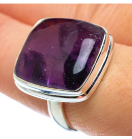 Chevron Amethyst Ring - Size 8.5