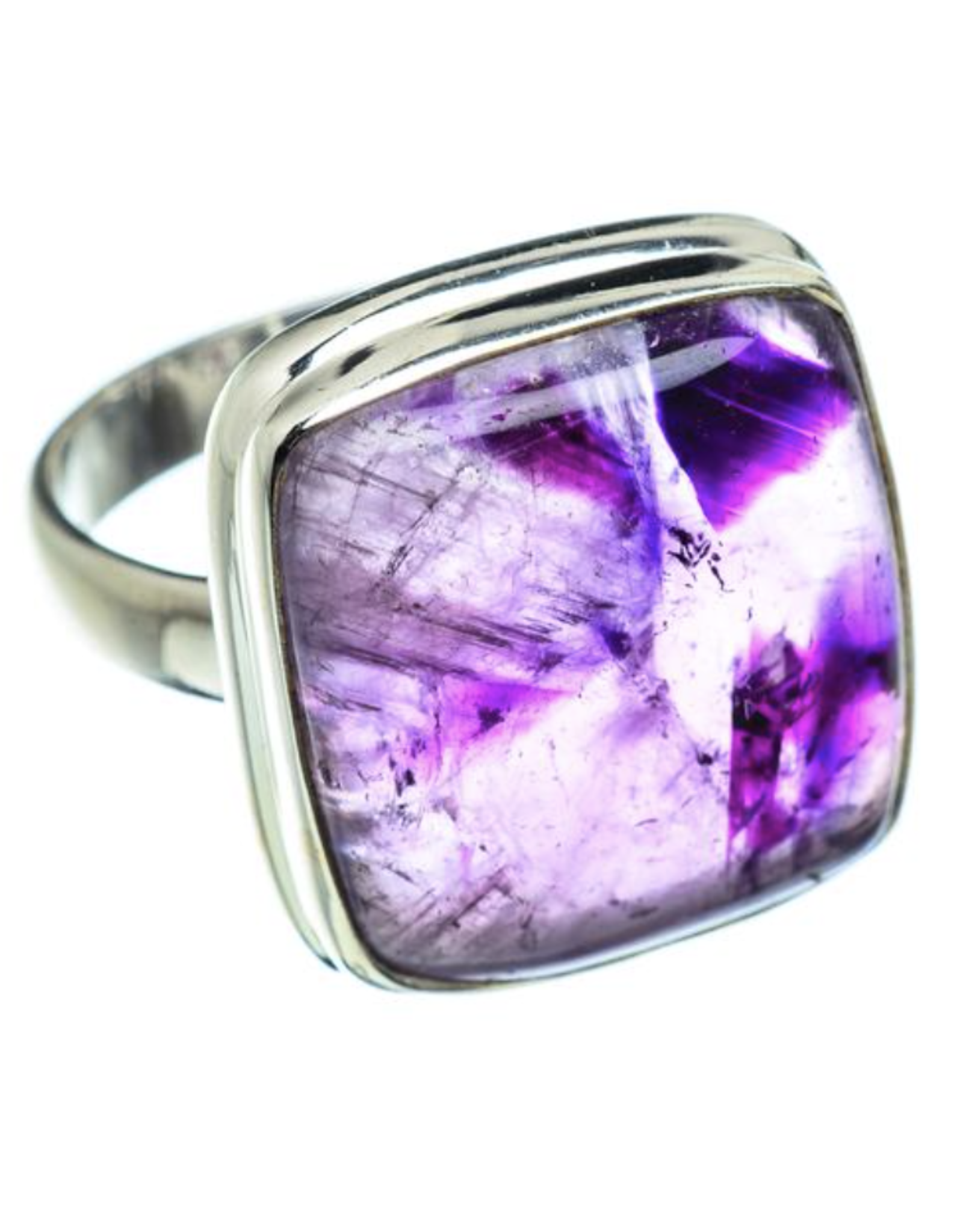 Chevron Amethyst Ring - Size 8.5