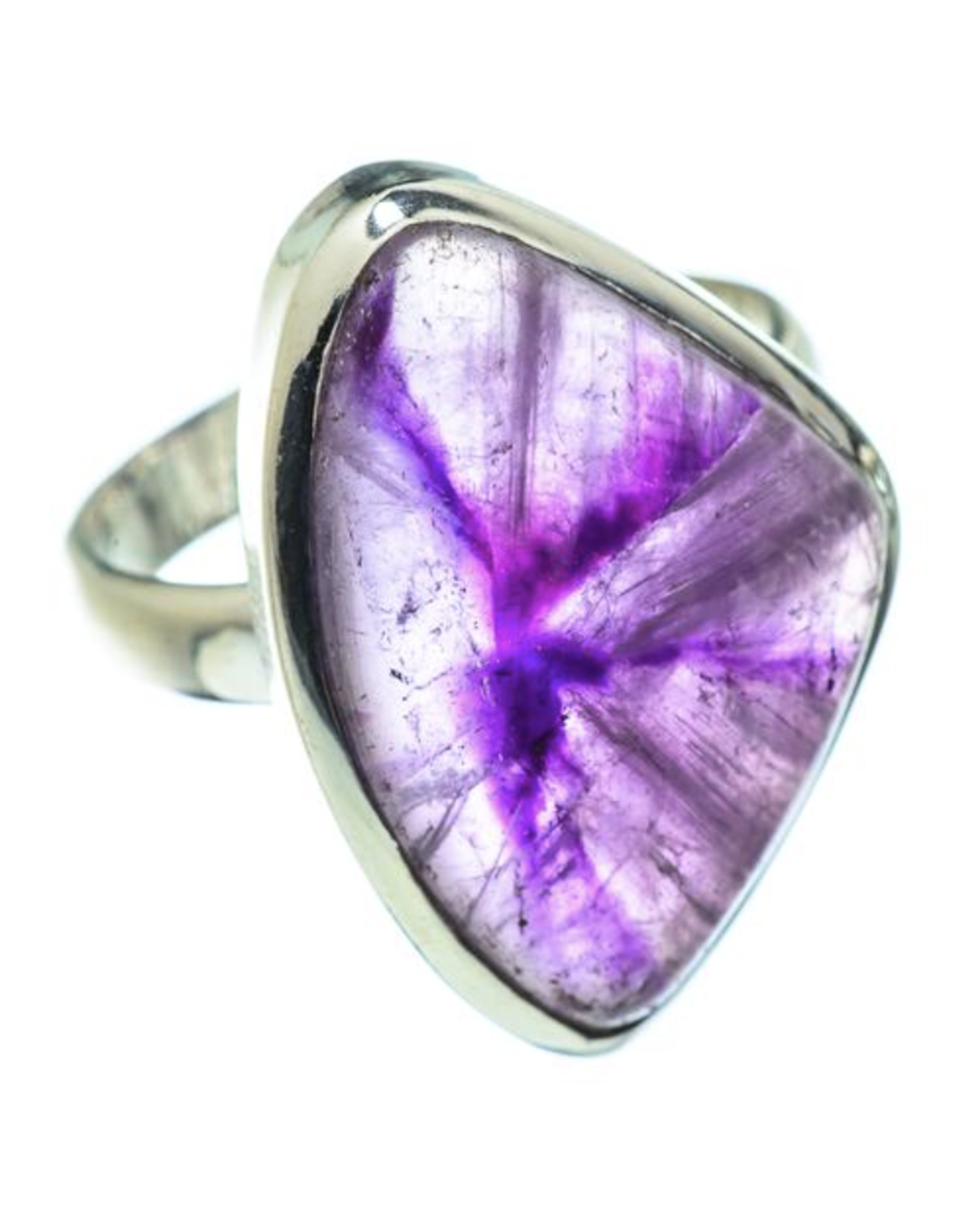 Chevron Amethyst Ring - Size 8.25