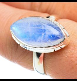 Rainbow Moonstone Ring - Size 8.25