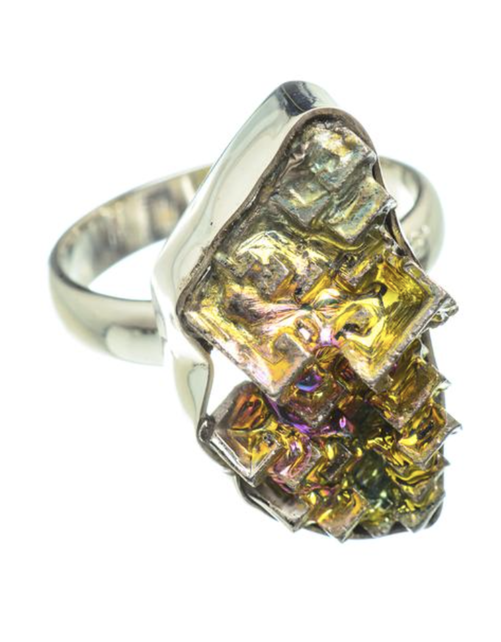 Bismuth Crystal Ring - Size 7.25