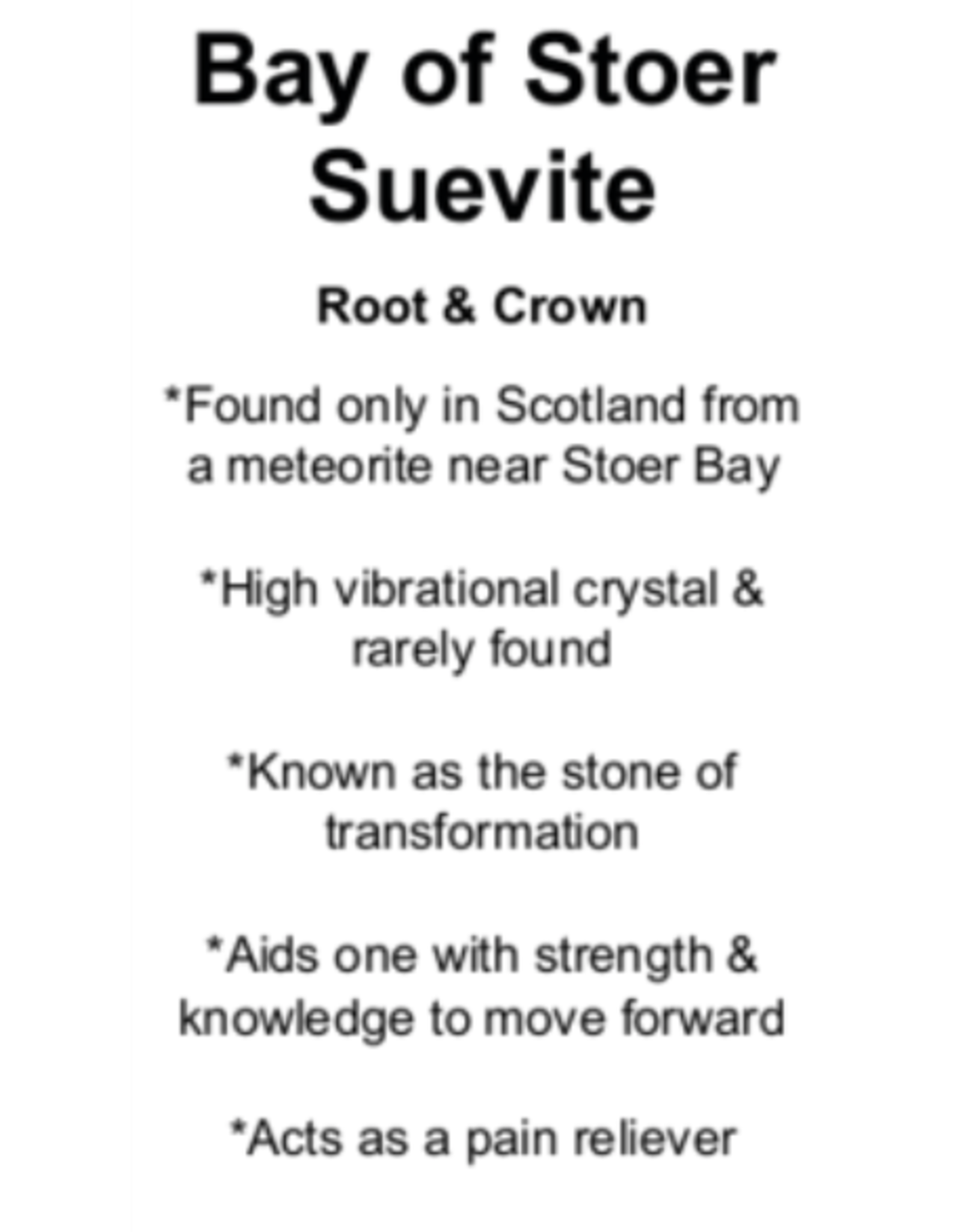 Bay of Store Suevite - Card