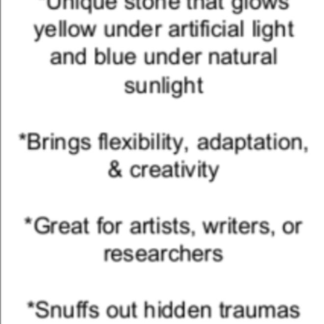 Blue Amber - Card