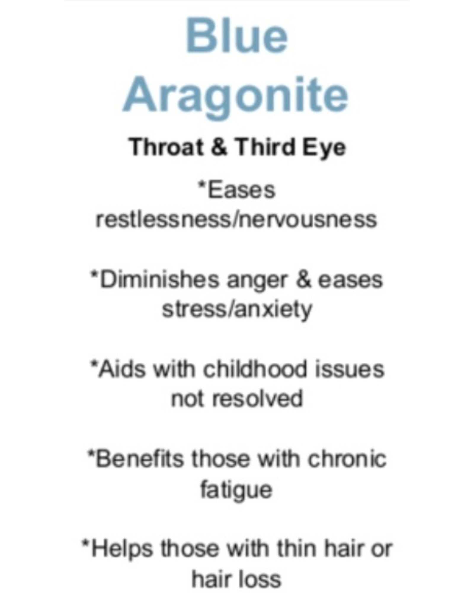 Blue Aragonite - Card