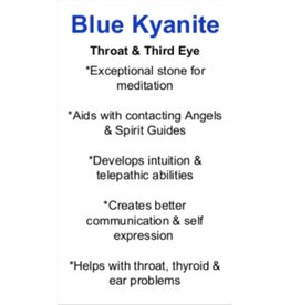 Blue Kyanite - Card