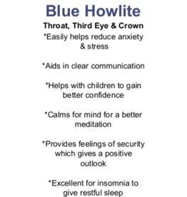 Blue Howlite - Card
