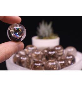 Smoky Quartz Rainbow Sphere/Orb-10-20mm