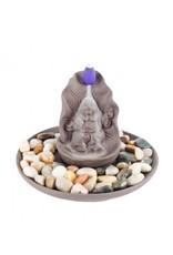 Happy Buddha Backflow Incense Cone Burner