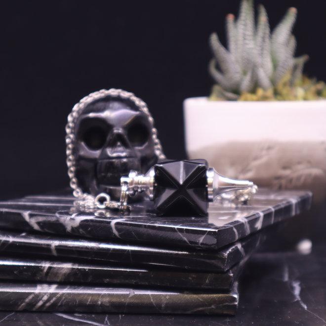 Black Obsidian Merkabah Pendulum